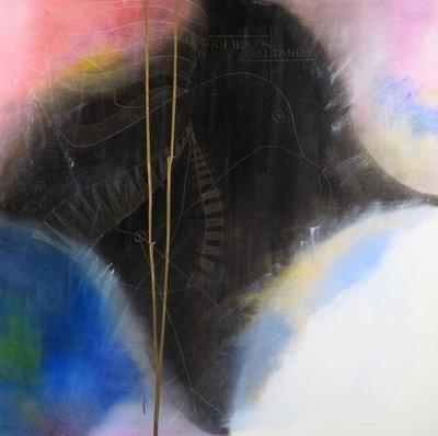 Herman Jan Bosch - La Sunnam Bulu II - 100 x 100 cm - Olieverf op doek