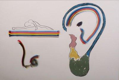 Ruud Dijkers - zonder titel II - 83 x 113 cm - gemengde techniek op papier - ingelijst