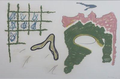 Ruud Dijkers - zonder titel - 83 x 113 cm - krijt op papier - ingelijst