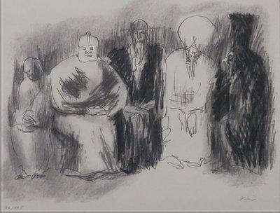Luis Filcer - zonder titel VII - 51 x 66 cm - Zeefdruk op papier - aluminium ingelijst