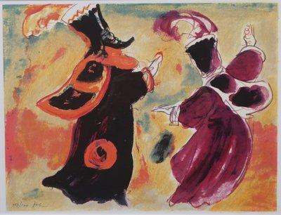 Luis Filcer - zonder titel - 54,5 x 62 cm - Litho op papier - ingelijst