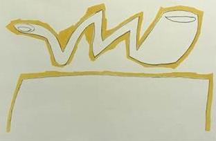 Klaas Gubbels - zonder titel - 45 x 66 cm - Zeefdruk op papier -  passe partout