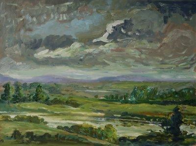 Henk Heideveld - Iers landschap 2 - 63 x 83 cm - olieverf op paneel - ingelijst