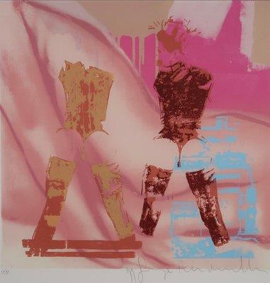 George Heidweiller - Playboy - 90,5 x 86,5 cm - Zeefdruk op papier - Aluminium ingelijst