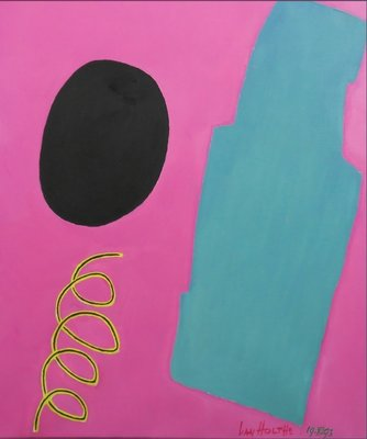 Jan van Holthe - Divertimento - 65 x 54 cm - olieverf op doek