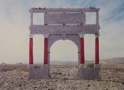 Jean Ruiter - Cathedral in the Desert III  - 95 x 115 cm - foto op fotopapier - ingelijst