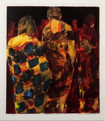 Willem van Scheijndel - Going to the Ball - 94 x 84 cm - Zeefdruk op papier - ingelijst