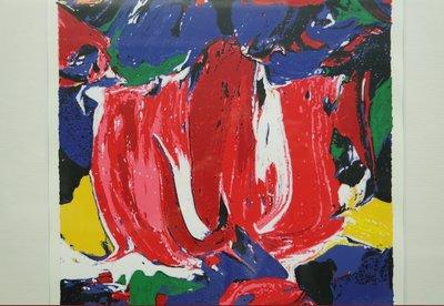JAS - Mokum Red - 51 x 41 cm - Zeefdruk op papier - ingelijst