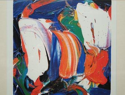 JAS - Orange Favorite - 51 x 41 cm - Zeefdruk op papier - ingelijst