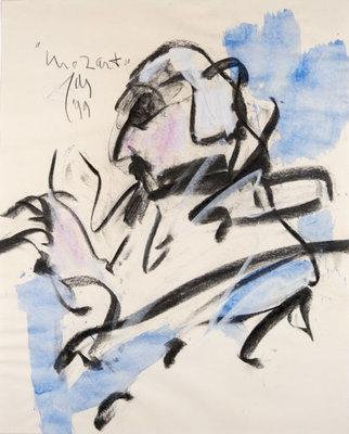 JAS - Mozart - 40 x 50 cm - Aquarel op papier