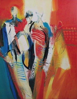 Peter Meijer - Pascalle - 108 x 88 cm - Zeefdruk op board - ingelijst