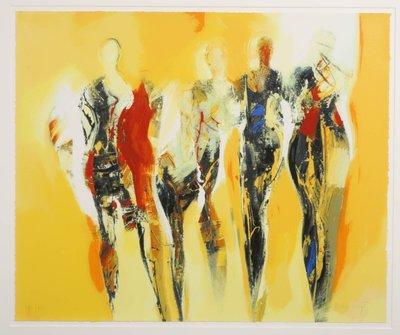 Peter Meijer - Summertime - 90 x 108 cm - Zeefdruk op papier - ingelijst
