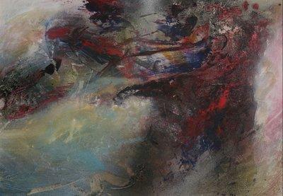 Peter Meijer - zonder titel - 72,5 x 102,5 cm - Gemengde techniek op board - ingelijst