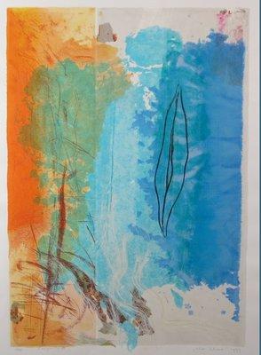 Peter Schenk - Compositie III - 123 x 93 cm - Zeefdruk op papier - aluminium ingelijst