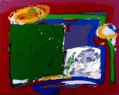 Siebrand Weitenberg - zonder titel - 56 x 75 cm - zeefdruk op papier