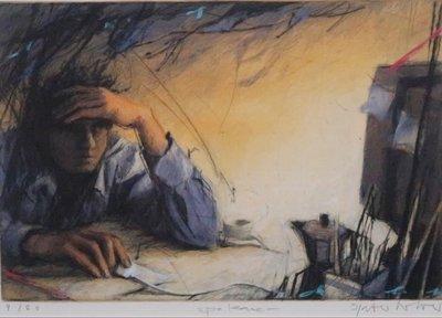 Peter Wever - Mausklick - Ets op papier - 56,5 x 68 cm - ingelijst