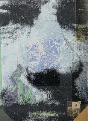 Harald Vlugt - Autumn - 83 x 63 cm cm - zeefdruk en collage op papier - ingelijst