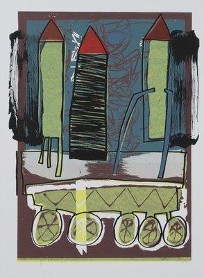 Pieter Vermeulen - Huistafel - 68,5 x 50 cm - zeefdruk op papier