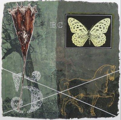 Mark Verdoes - zonder titel III - 83 x 83 cm - Zeefdruk op geschept papier - ingelijst