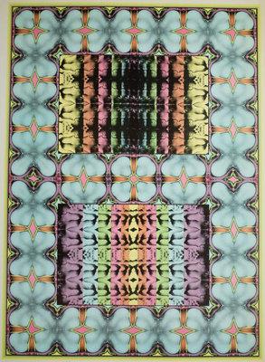 Shinkichi George Tajiri - My secret garden I - 56 x 76 cm - offset uit reeks Prent 190