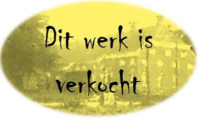 Henk van Vessem - Als een gouden ader... (2) - 83 x 83 cm - zeefdruk op papier - ingelijst