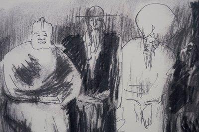 Luis Filcer - zonder titel VII - 41 x 51 cm - Zeefdruk op papier - aluminium ingelijst