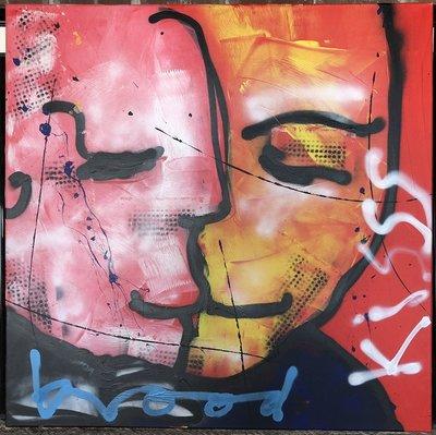 Herman Brood - Kisss - 100 x 100cm - acryl op doek