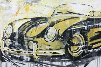 Eric Jan Kremer - zonder titel III (Porsche) - 180 x 120 cm - Acrylverf op doek