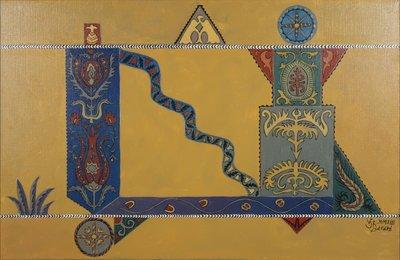 Valentin Bakardjiev - ZT IIX - 65 x 100 cm - Olieverf op doek