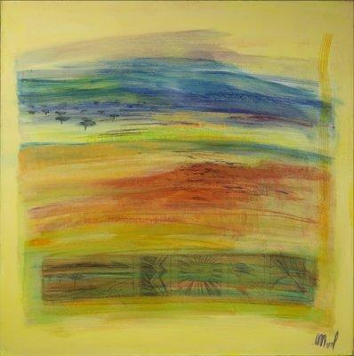 Merel van Beeumen - zt - 100 x 100,5 cm - acrylverf op doek