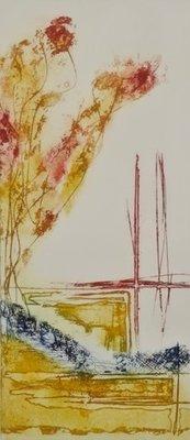 Olivier Beijn - zonder titel - 76,5 x 46,5 cm - ets op papier - in aluminium lijst
