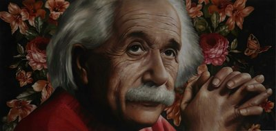 Jan Bollaert - The Little Butterfly (Albert Einstein) - Lambdaprint op papier - 73 x 125 cm - in houten lijst
