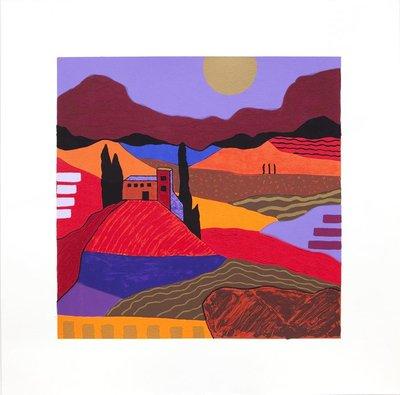 Ronald Boonacker - Lombardije I - 60 x 60 cm - Zeefdruk op papier