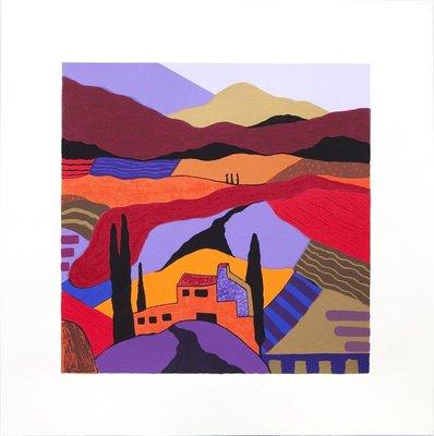 Ronald Boonacker - Lombardije II - 60 x 60 cm - Zeefdruk op papier