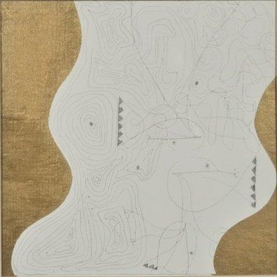 Herman Jan Bosch - zt IV - 52,5 x 52,5 cm - Gemengde techniek op paneel - in houten baklijst