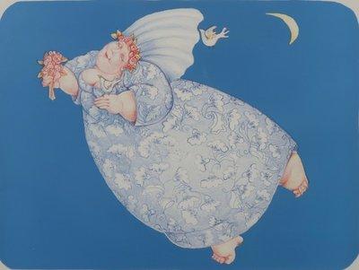 Ada Breedveld - De Nachtbruid - 70,5 x 90,5 cm - Lithografie op papier - aluminium ingelijst