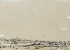 Rudolf Bruyn - z.t. II - 36 x 41 cm - Inkt op papier - in houten lijst