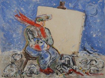 Horacio Cordero - ZT II - 66 x 49,5 cm - Gouache op geschept papier