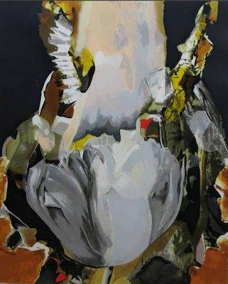Anita Duif - Witte Tulp - 99,5 x 80cm - zeefdruk op papier