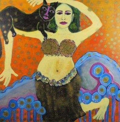 Margit Junge - zonder titel I - 135 x 135 cm - Acrylverf op doek op spieraam met ophangsysteem