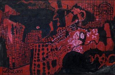 Margit Junge - zonder titel IV - 108 x 164 cm - Acrylverf op doek op spieraam met ophangsysteem