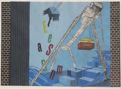 Jan Willem Kwinkelenberg - De taal van de zee overgeslagen - 76 x 98 cm - Gemengde druktechnieken op papier - in houten lijst