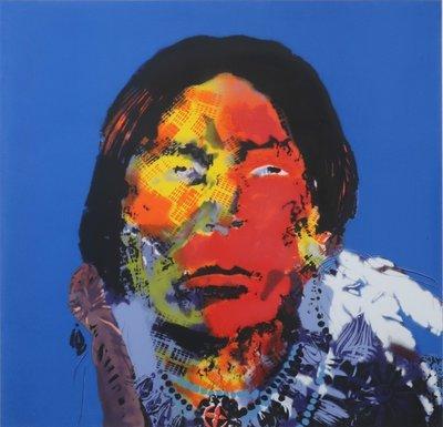 Espen Greger Hagen - Geronimo II - 93 x 98 cm - zeefdruk op papier - ingelijst