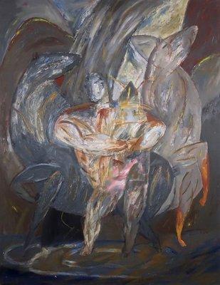 Horacio Silva - zt I - 155 x 120 cm - acryl op doek - 1987