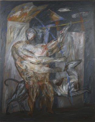 Horacio Silva - zt II - 155 x 120 cm - acryl op doek - 1987