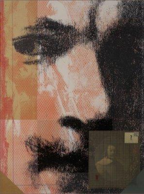 Harald Vlugt - Summer - 103,5  x 83,5 cm - zeefdruk en collage op papier - aluminium ingelijst