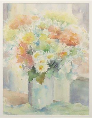 Anneke Witte - zonder titel III - Aquarel op papier - 66 x 51 cm - in aluminium lijst