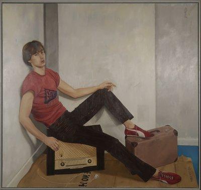 Wim Heldens- Hans (Cornelissen) - 154 x 163 cm - Olieverf en tempera op doek - in houten lijst