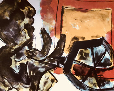 Jan Sierhuis - zonder titel IV - 51 x 66 cm - Kleurenlitho