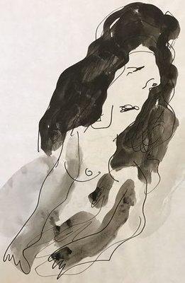 Jan Sierhuis - zonder titel V - 32 x 21 cm - Tekening op papier